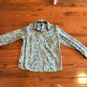 Talbots large petite multi color blouse